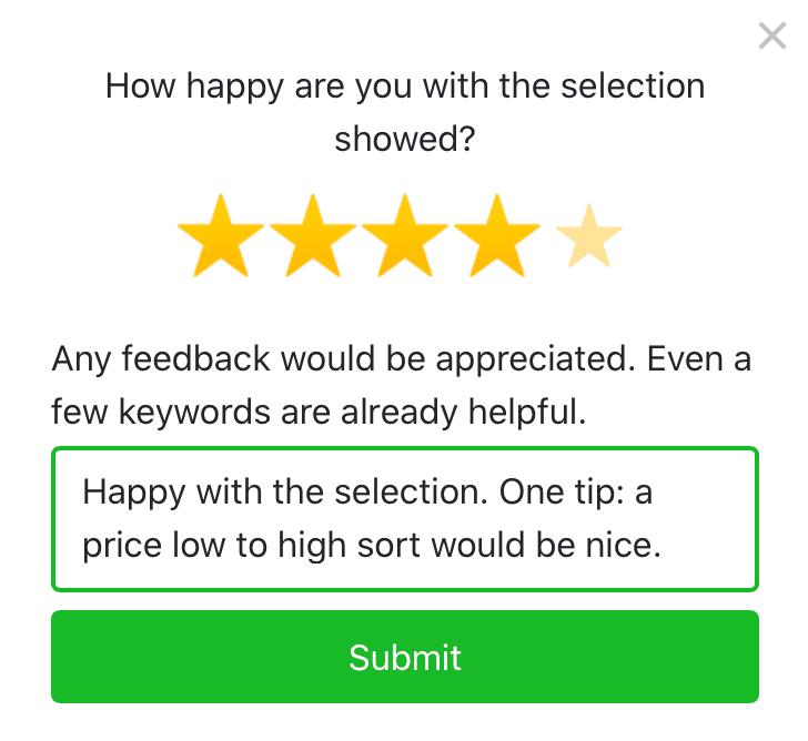 Customer Satisfaction Score Survey example