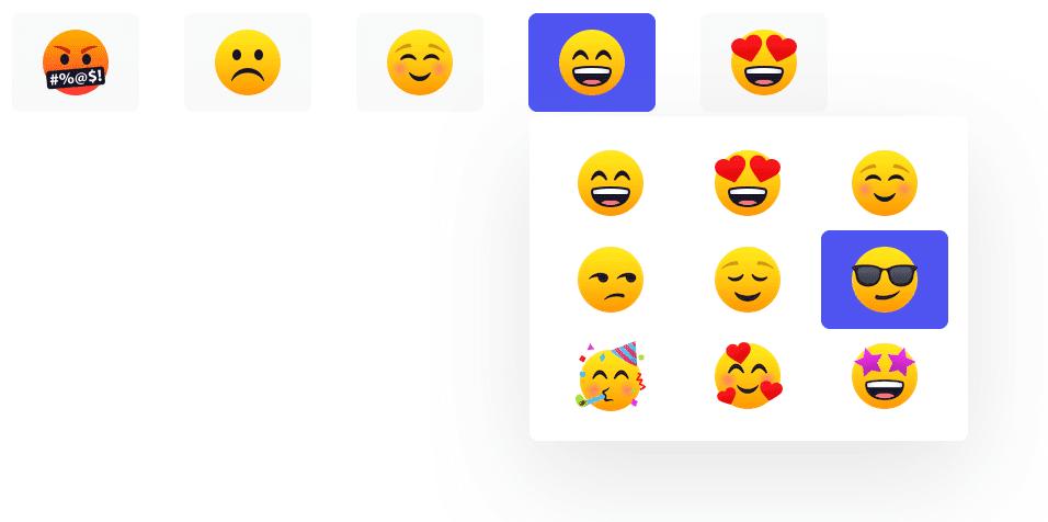 Pick your own survey emoji