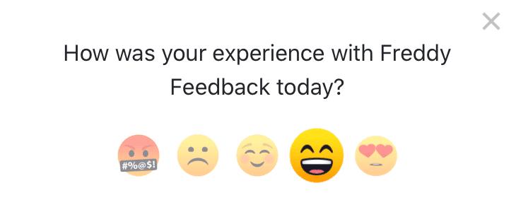 emoji survey widget